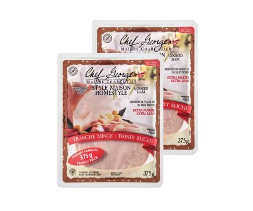 Jambon Cuit Style Maison Tranche Mince Chef Georges 375g