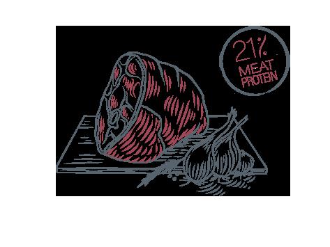 21% protein ham
